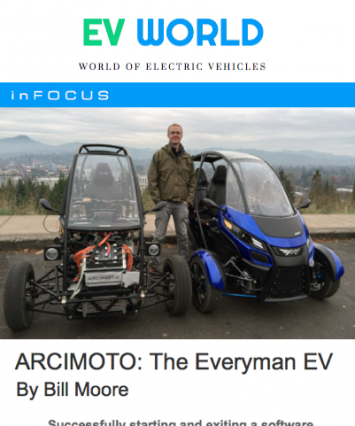 Arcimoto Covered By EV World