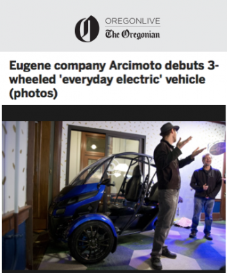 Arcimoto Featured In OregonLive