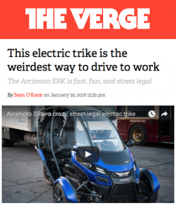 The Verge Covers Arcimoto