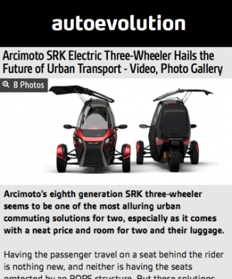 AutoEvolution Features Arcimoto