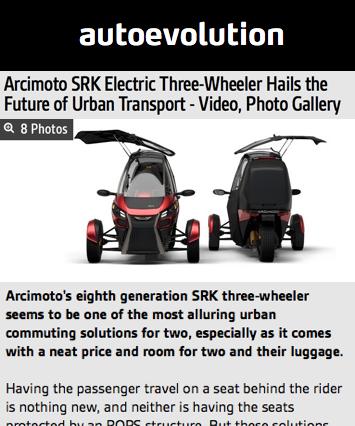 AutoEvolution Features Arcimoto
