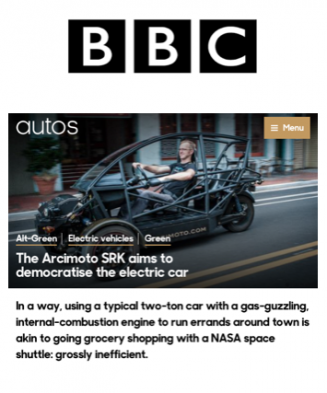 BBC Covers Arcimoto