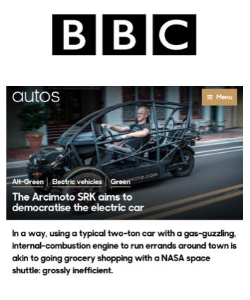 BBC Covers Arcimoto
