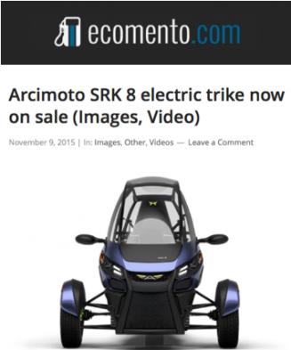 ECOMENTO Features Arcimoto