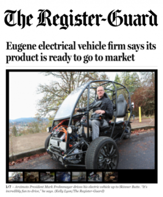 The Register Guard Covers Arcimoto