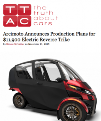 The Truth About Cars Features Arcimoto
