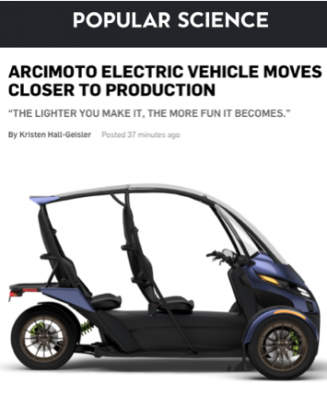 Popular Science On Arcimoto