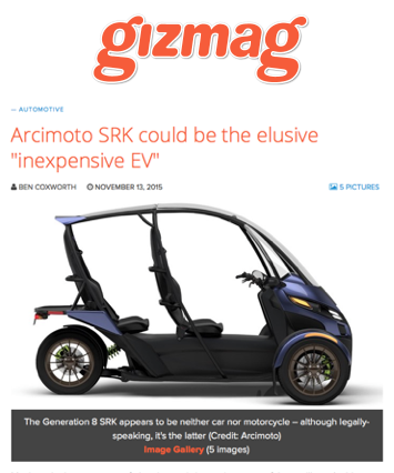gizmag Covers Arcimoto