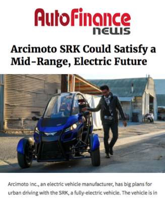 AutoFinance Covers The Arcimoto