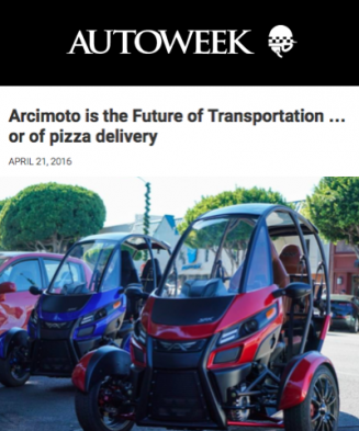 Autoweek Covers The Arcimoto-srk