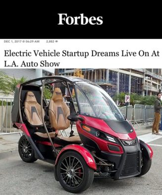 Forbes covers the Electric Dream of Arcimoto