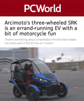 Arcimoto SRK Covered By PC World