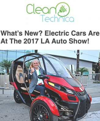 CleanTechnica- What's New? Electric Cars Are At The 2017 LA Auto Show!