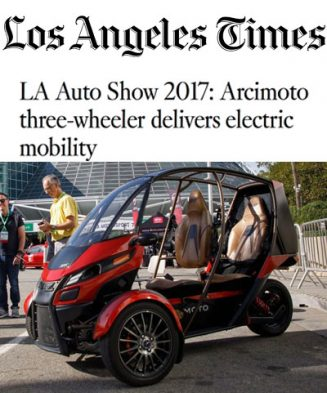 LA Auto Show 2017: Arcimoto three-wheeler delivers electric mobility