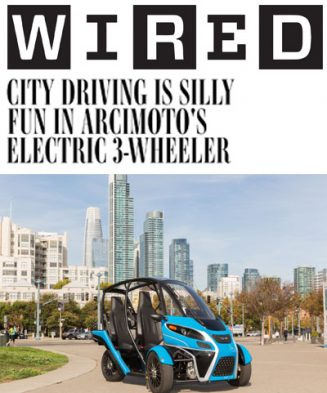 City Driving is Silly Fun in Arcimoto's Electric 3-Wheeler