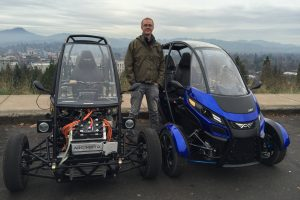 Arcimoto Founder - Mark Frohnmayer - With Generation 8