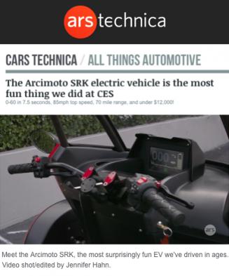 Ars Technica Features Arcimoto