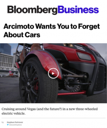 Bloomberg Business Covers Arcimoto